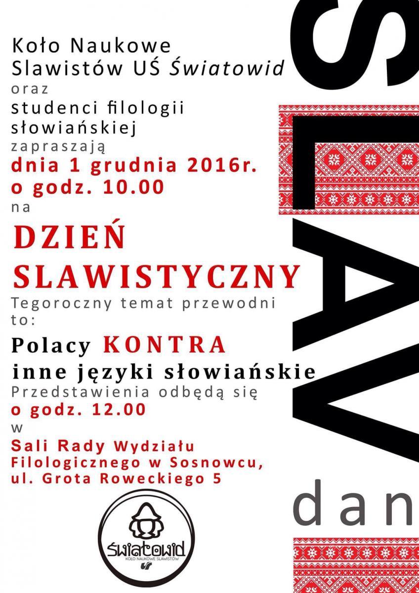 Plakat promujący Dzień Slawistyczny