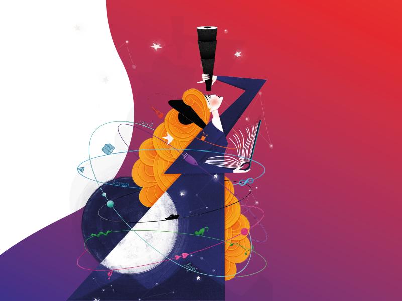 Grafika promująca 5. Śląski Festiwal Nauki KATOWICE