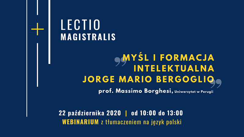 "webinarium ""Myśl i formacja intelektualna Jorge Mario Bergoglio"""