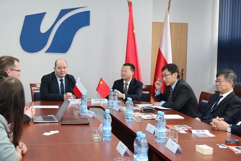 Uczestnicy spotkania z delegacją Northeastern University z Shenyang