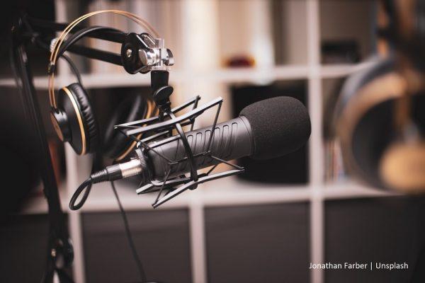 mikrofon oraz słuchawki