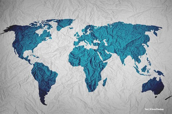 Kontynenty, mapa