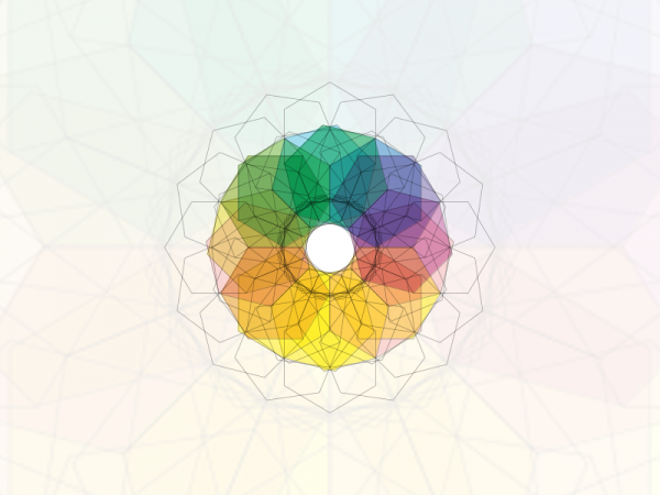 grafika promująca konkurs Wyróżnienia JM Rektora, kolorowa mandala
