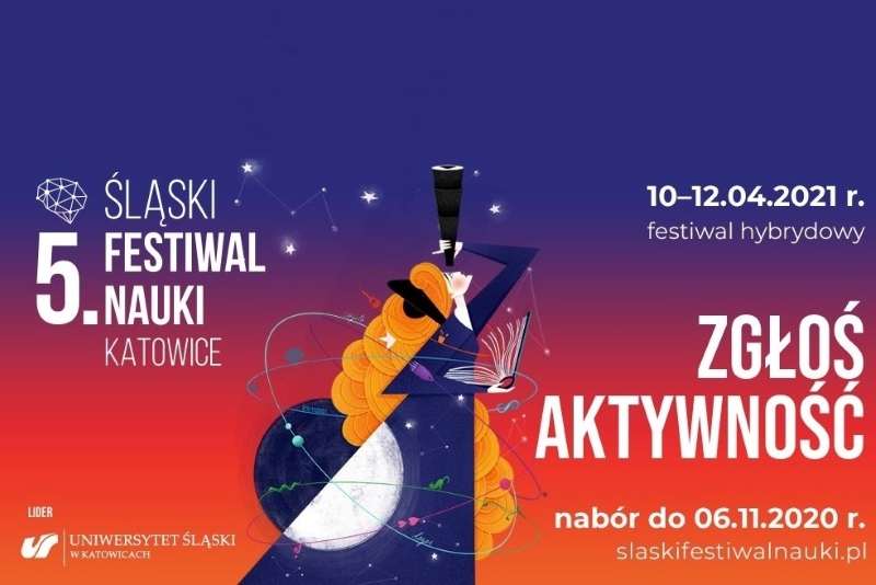 Grafika promująca nabór do Śląskiego Festiwalu Nauki/Graphics promoting recruitment for the Silesian Science Festival