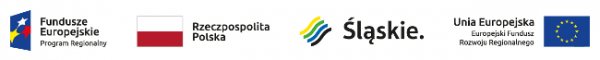 Logotypy: Fundusze Europejskie Program Regionalny, Rzeczpospolita Polska, Województwo Śląskie, Unia Europejska Europejski Fundusz Rozwoju Regionalnego