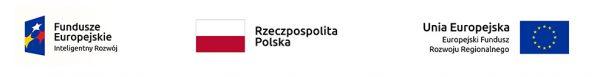 Logotypy: Fundusze Europejskie Inteligentny Rozwój, Rzeczpospolita Polska, Unia Europejska Europejski Fundusz Rozwoju Regionalnego