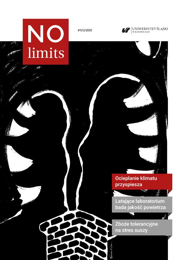 """""""No Limits"""" - okładka pierwszego numeru czasopisma"""
