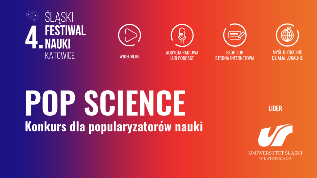 Grafika promująca konkurs POP Science