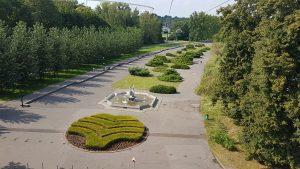 Park Śląski w Chorzowie z lotu ptaka