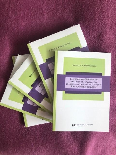 okładka monografii pt. Les conceptualisations de relations au travers des prépositions neutres en français. Une approche cognitive