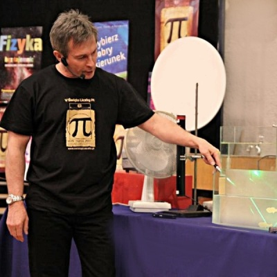 A man is preparing an experiment